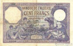 100 Francs ALGÉRIE  1933 P.081b TTB