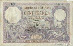 100 Francs ALGÉRIE  1936 P.081b pr.TTB