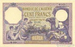 100 Francs type 1920 ALGÉRIE  1921 P.081s pr.NEUF