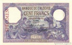 100 Francs type 1920 ALGÉRIE  1928 P.081s pr.NEUF