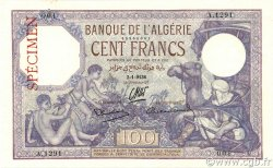 100 Francs type 1920 ALGÉRIE  1936 P.081s SPL