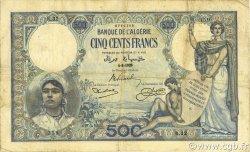 500 Francs type 1926 ALGÉRIE  1926 P.082 TB