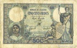 500 Francs type 1926 ALGÉRIE  1939 P.082 TB+