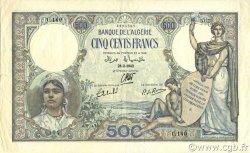 500 Francs type 1926 ALGÉRIE  1942 P.082 TTB+