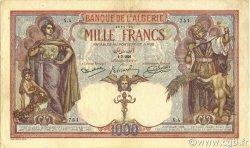 1000 Francs type 1926 ALGÉRIE  1926 P.083a TTB