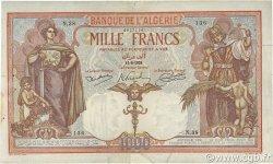 1000 Francs type 1926 ALGÉRIE  1926 P.083a TB à TTB