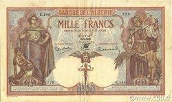 1000 Francs type 1926 ALGÉRIE  1938 P.083a TTB