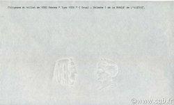 1000 Francs ALGÉRIE  1926 P.083s NEUF