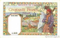 50 Francs type 1938 filigrane tête ALGÉRIE  1941 P.084 SPL