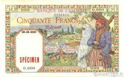 50 Francs type 1938 filigrane tête ALGÉRIE  1938 P.084s pr.NEUF