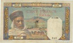 100 Francs type 1938 filigrane tête ALGÉRIE  1939 P.085a TTB+