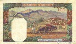100 Francs type 1938 filigrane tête ALGÉRIE  1940 P.085a TTB+