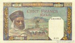 100 Francs type 1938 filigrane tête ALGÉRIE  1945 P.085a SUP