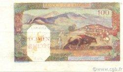 100 Francs type 1938 filigrane tête ALGÉRIE  1938 P.085s SUP