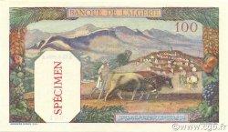 100 Francs type 1938 filigrane tête ALGÉRIE  1938 P.085s