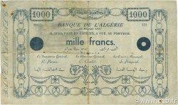 1000 Francs fantaisiste ALGÉRIE  1937 P.-- TB+