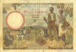 1000 Francs ALGÉRIE  1941 P.086 TTB