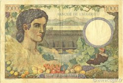 1000 Francs type 1940 filigrane tête ALGÉRIE  1941 P.086 TTB