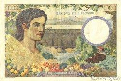 1000 Francs type 1940 filigrane tête ALGÉRIE  1941 P.086 TTB+
