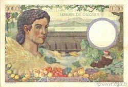 1000 Francs type 1940 filigrane tête ALGÉRIE  1942 P.086 pr.SUP