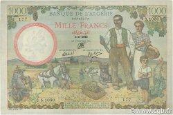 1000 Francs type 1940 filigrane tête ALGÉRIE  1942 P.086 TTB+