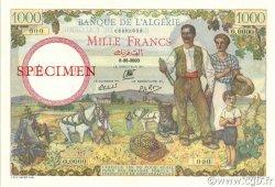 1000 Francs type 1940 filigrane tête ALGÉRIE  1940 P.086s NEUF