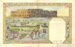50 Francs type 1938 filigrane lettres ALGÉRIE  1944 P.087 TTB à SUP