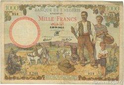 1000 Francs ALGÉRIE  1942 P.089 TB