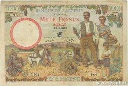 1000 Francs type 1940 filigrane lettres ALGÉRIE  1942 P.089 TB+