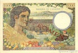 1000 Francs type 1940 filigrane lettres ALGÉRIE  1942 P.089s
