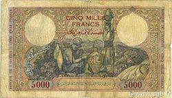 5000 Francs type 1942 ALGÉRIE  1942 P.090a B+