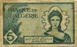 5 Francs type 1942 ALGÉRIE  1942 P.091 TB