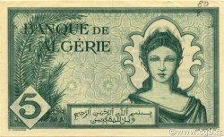 5 Francs ALGÉRIE  1942 P.091 pr.SPL