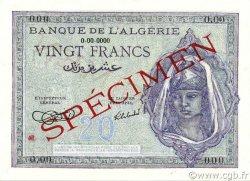 20 Francs type 1943 ALGÉRIE  1942 P.092s NEUF