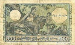 500 Francs type 1943 vert ALGÉRIE  1943 P.093 TB