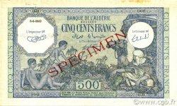 500 Francs type 1943 vert ALGÉRIE  1943 P.093s SPL+