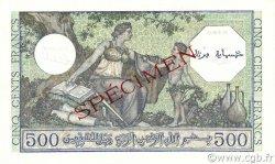 500 Francs type 1943 vert ALGÉRIE  1943 P.093s NEUF