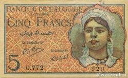 5 Francs type 1944 ALGÉRIE  1944 P.094b SUP+