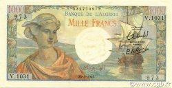 1000 Francs type 1945 réserve - Arnaud ALGÉRIE  1945 P.096 SUP