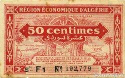50 Centimes 1er tirage ALGÉRIE  1944 P.097b TTB+