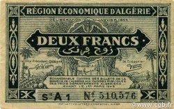 2 Francs 1er tirage ALGÉRIE  1944 P.099a TTB+