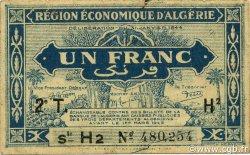 1 Franc 2e tirage ALGÉRIE  1944 P.101 TTB
