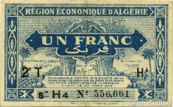 1 Franc 2e tirage ALGÉRIE  1944 P.101 SUP