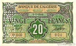 20 Francs type 1946 ALGÉRIE  1948 P.103s NEUF