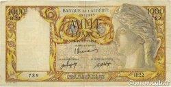 1000 Francs ALGÉRIE  1946 P.104 TB à TTB