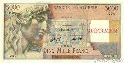5000 Francs type 1946 Apollon ALGÉRIE  1946 P.105s pr.NEUF