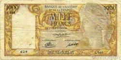 1000 Francs type 1946 Isis modifié ALGÉRIE  1950 P.107a TB