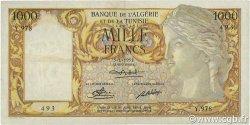 1000 Francs type 1946 Isis modifié ALGÉRIE  1951 P.107a TTB+