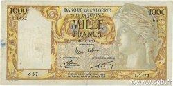 1000 Francs type 1946 Isis modifié ALGÉRIE  1954 P.107b TTB