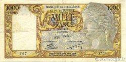 1000 Francs ALGÉRIE  1956 P.107b TTB+